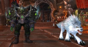 Jäger in Ogrimmar mit seinem Wolf in World of Warcraft