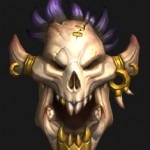 golden visage of the laughing skull